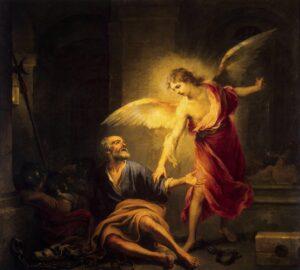 Ein Engel befreit Petrus aus dem Gefängnis